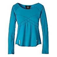 Womens prAna Whitney Crew Long Sleeve Technical Tops