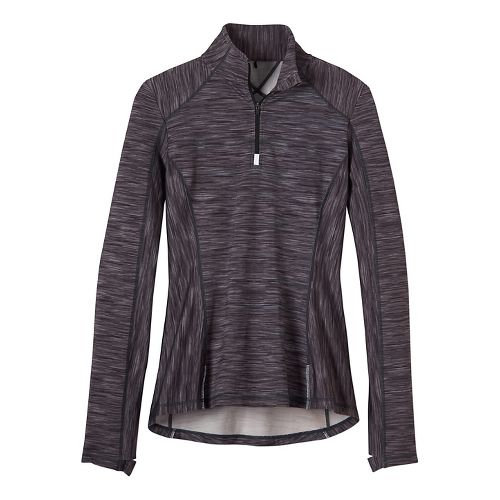 Womens prAna Sierra 1/4 Half-Zips & Hoodies Technical Tops - Black/Black L