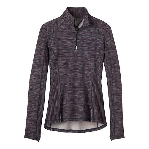 Womens prAna Sierra 1/4 Half-Zips & Hoodies Technical Tops - Black/Black XL