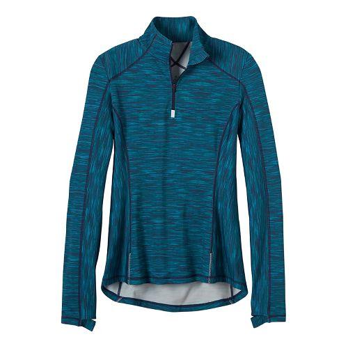 Womens prAna Sierra 1/4 Half-Zips & Hoodies Technical Tops - Indigo S