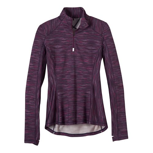 Womens prAna Sierra 1/4 Half-Zips & Hoodies Technical Tops - Purple XL