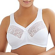 Womens Glamorise Embroidered MagicLift Full Figure Support D/DD/F/G/H/I Everyday Bras - White 42D