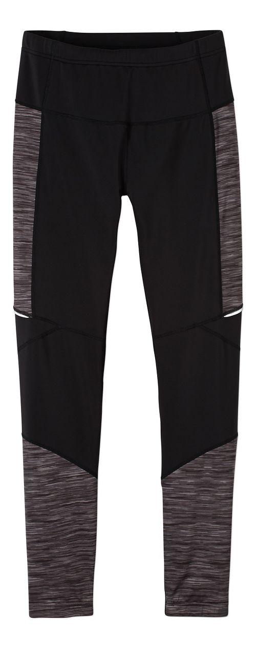Womens prAna Ergo Tights & Leggings Tights - Black/Black L