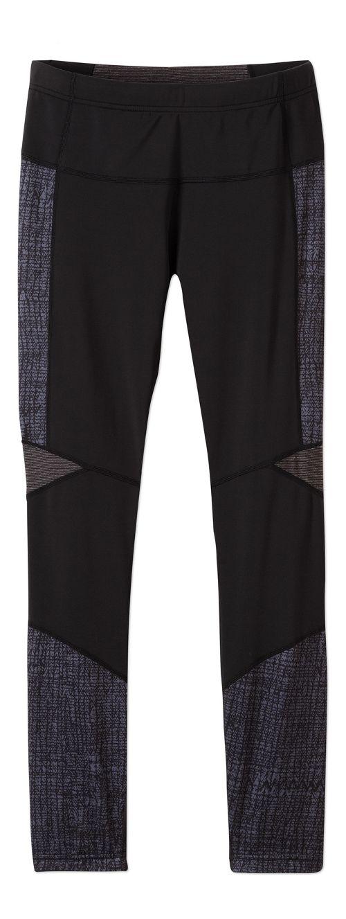 Womens prAna Ergo Tights & Leggings Tights - Black Kaleidoscope XL