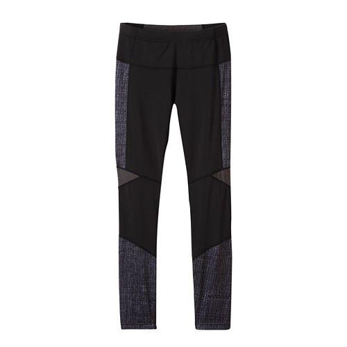 Womens prAna Ergo Tights & Leggings Tights - Black Kaleidoscope M