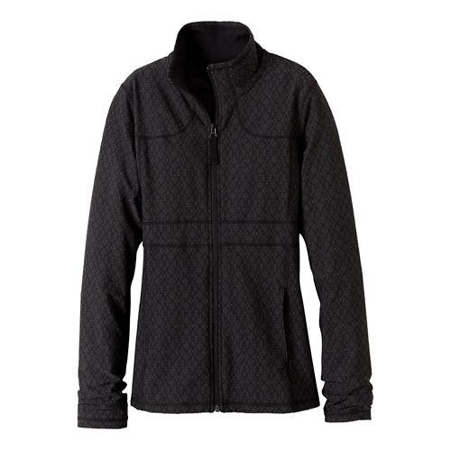 Womens prAna Reeve Casual Jackets - Black Jacquard L