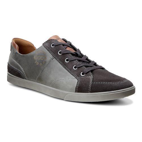 Mens Ecco Collin Vintage Sneaker Casual Shoe - Moonless/Cognac 43