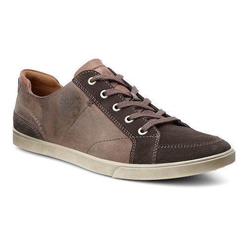 Mens Ecco Collin Vintage Sneaker Casual Shoe - Licorice/Cognac 43