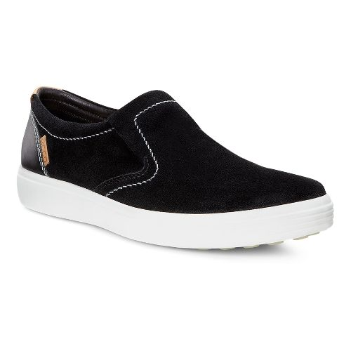 Mens Ecco Soft VII Slip On Casual Shoe - Black 45