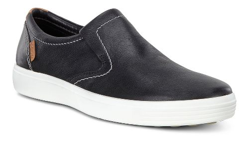 Mens Ecco Soft 7 Slip-On Casual Shoe - Black Leather 46