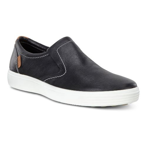 Mens Ecco Soft 7 Slip-On Casual Shoe - Black Leather 39