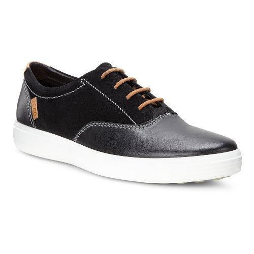 Mens Ecco Soft VII Tie Casual Shoe - Black 46