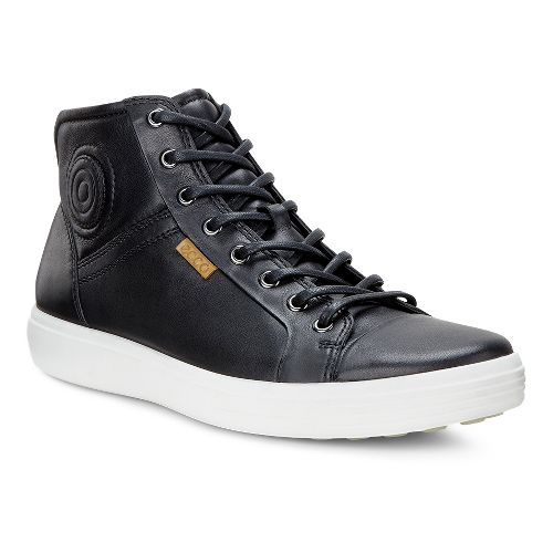 Mens Ecco Soft VII Boot Casual Shoe - Black 44