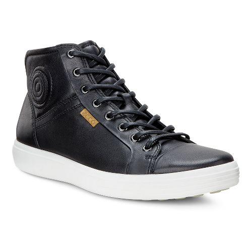 Mens Ecco Soft VII Boot Casual Shoe - Black 46