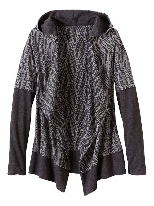 Womens Prana Graceful Wrap Long Sleeve Non-Technical Tops - Black L