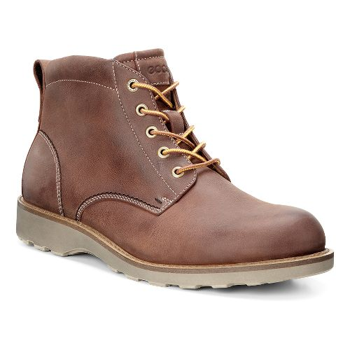Mens Ecco Holbrok Plain Toe Boot Casual Shoe - Cognac 47