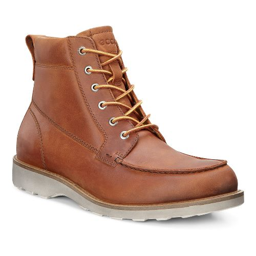 Mens Ecco Holbrok Moc Toe Boot Casual Shoe - Amber 40