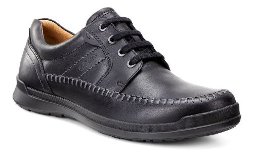 Mens Ecco Howell Moc Tie Casual Shoe - Black 43