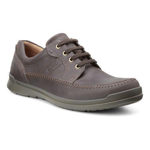 Mens Ecco Howell Moc Tie Casual Shoe - Mocha 43