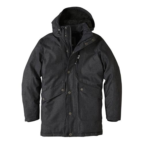 Mens prAna Merced Lightweight Jackets - Black Heather L