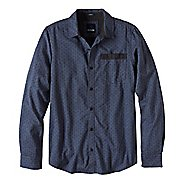 Mens prAna Dover Long Sleeve Non-Technical Tops