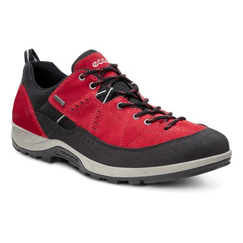 Mens Ecco Yura GTX Hiking Shoe - Black/Tomato 47