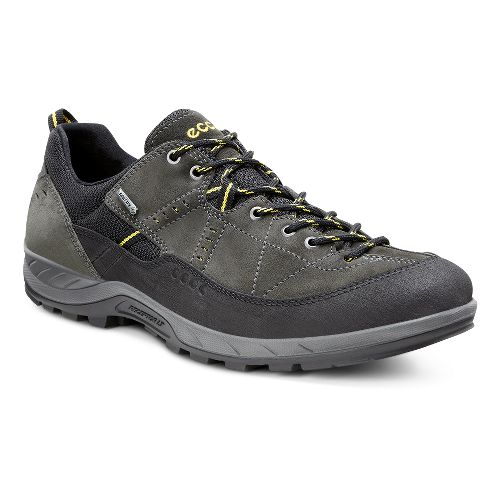 Mens Ecco Yura GTX Hiking Shoe - Black/Dark Shadow 46