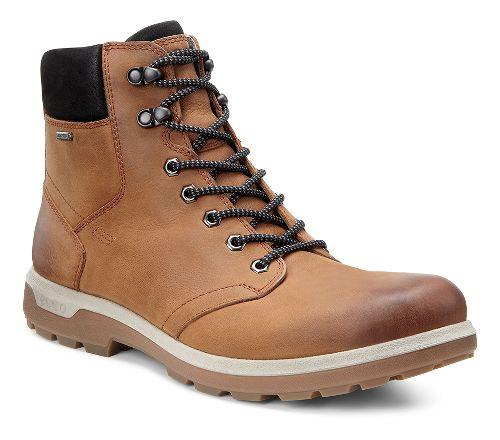 Mens Ecco Whistler GTX High Walking Shoe - Amber/Black 42