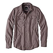 Mens prAna Hollis Long Sleeve Non-Technical Tops