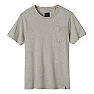 Mens prAna Burbia Pocket Crew Short Sleeve Non-Technical Tops