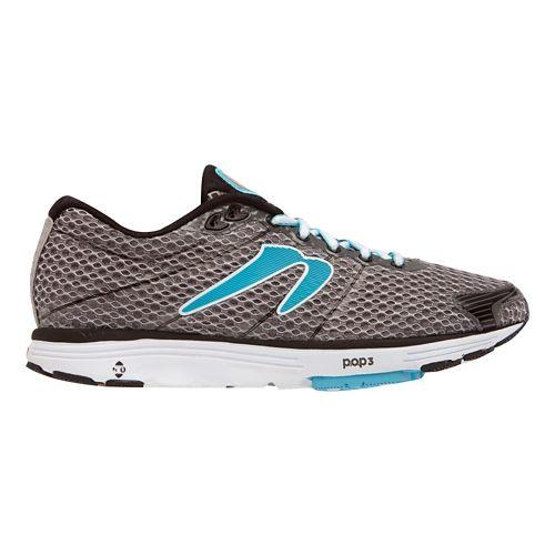 Womens Newton Running Aha Running Shoe - Black/Light Blue 10