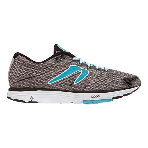 Womens Newton Running Aha Running Shoe - Black/Light Blue 6.5