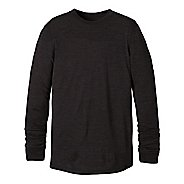 Mens prAna Stockton Crew Long Sleeve Non-Technical Tops