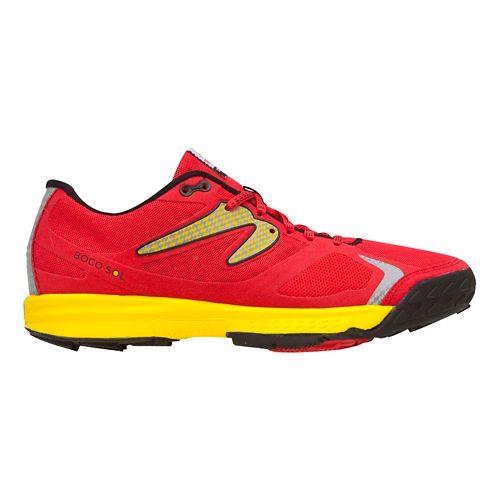 Mens Newton Trail Boco Sol Trail Running Shoe - Red/Yellow 6.5