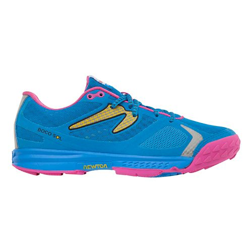 Womens Newton Running Boco Sol Trail Running Shoe - Blue/Pink 5.5