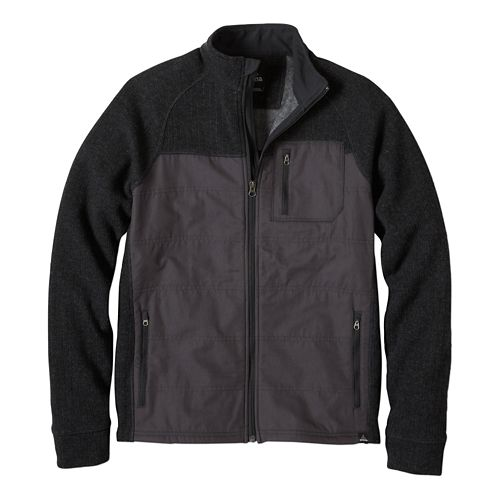 Mens prAna Appian Sweater Lightweight Jackets - Charcoal L
