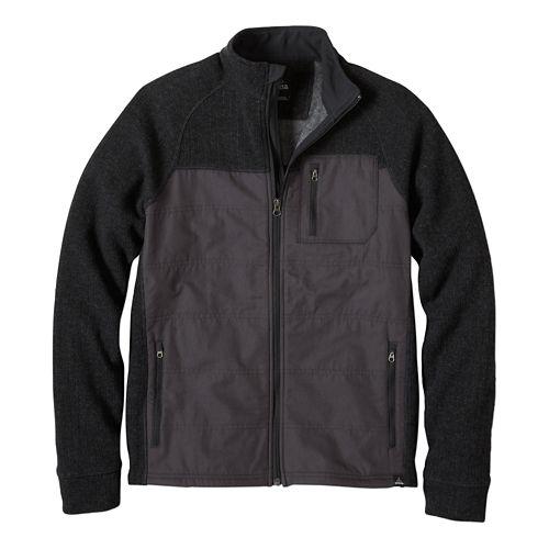 Mens prAna Appian Sweater Lightweight Jackets - Charcoal M