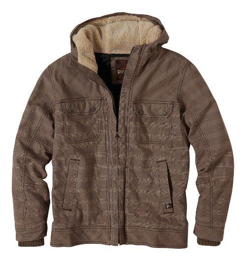 Mens prAna Apperson Lightweight Jackets - Mud Plaid XL