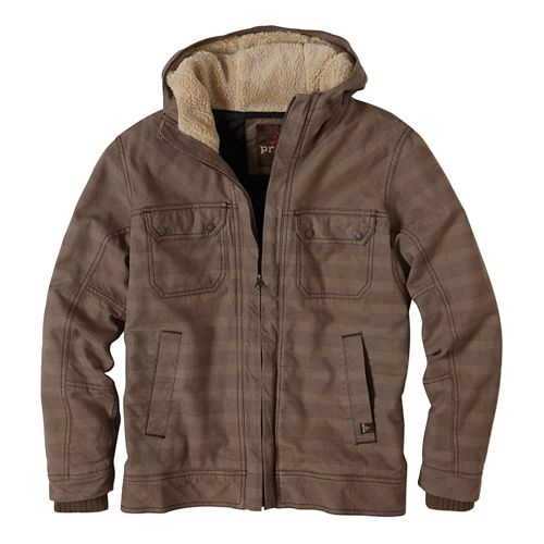 Mens prAna Apperson Lightweight Jackets - Mud Plaid L