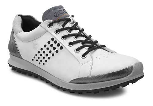Mens Ecco BIOM Hybrid 2 Cleated Shoe - Black/Brick 45