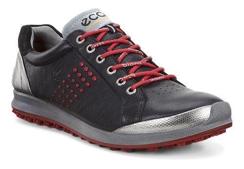 Mens Ecco BIOM Hybrid 2 Cleated Shoe - Black/Brick 47