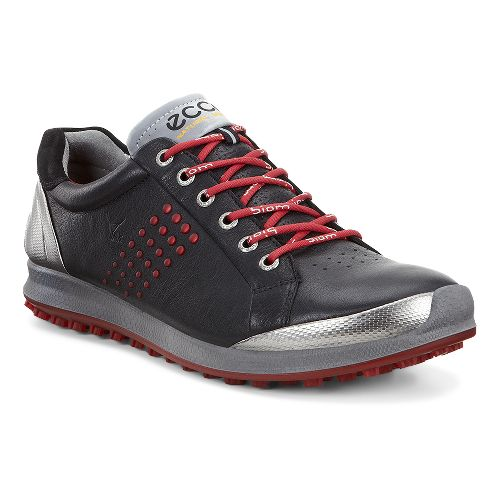 Mens Ecco BIOM Hybrid 2 Cleated Shoe - Black/Brick 39