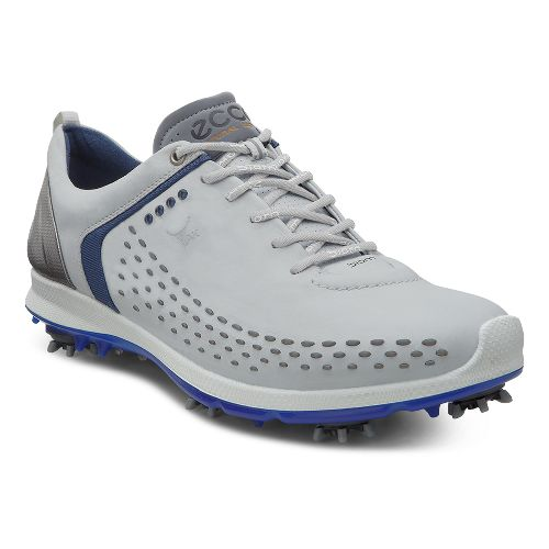 Mens Ecco BIOM G 2 Cleated Shoe - Concrete/Royal 40