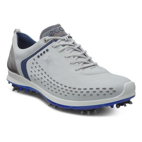 Mens Ecco BIOM G 2 Cleated Shoe - Concrete/Royal 45