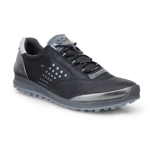 Womens Ecco BIOM Hybrid 2 Cleated Shoe - Black/Silver 38