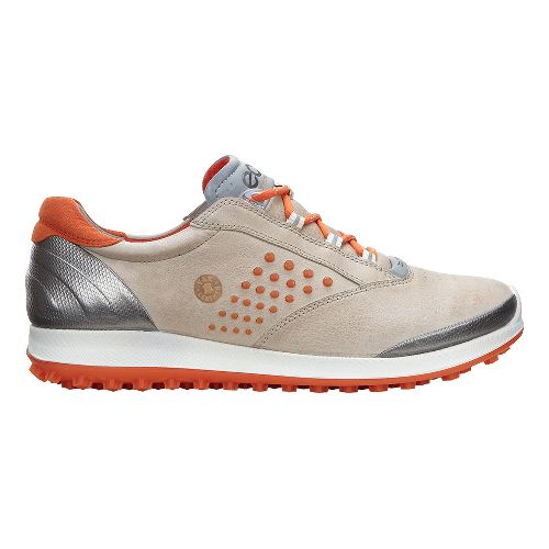 Womens Ecco BIOM Hybrid 2 Cleated Shoe - Oyster/Orange 36
