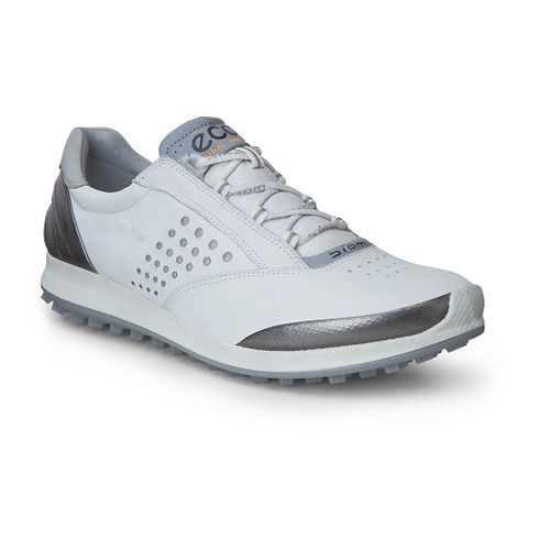 Womens Ecco BIOM Hybrid 2 Cleated Shoe - White/Silver 36