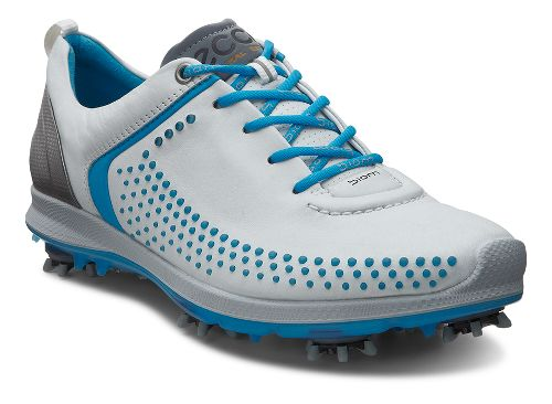 Womens Ecco BIOM G 2 Cleated Shoe - White/Danube 41