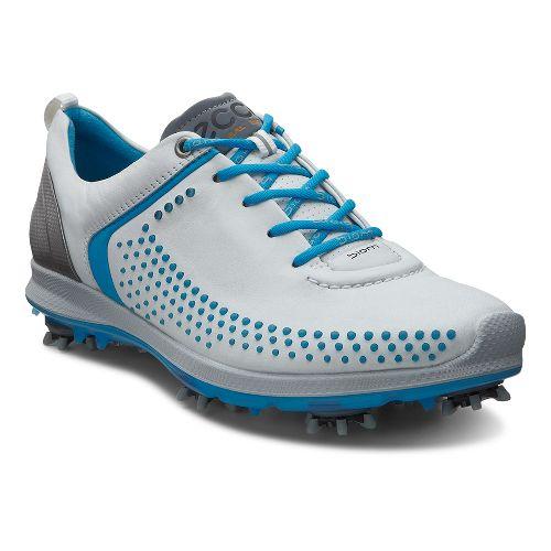 Womens Ecco BIOM G 2 Cleated Shoe - White/Danube 40