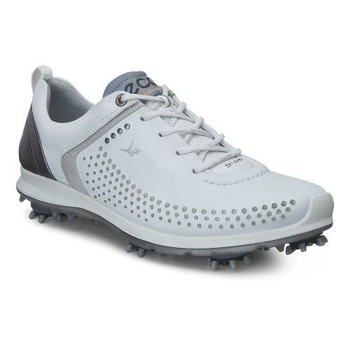 Womens Ecco BIOM G 2 Cleated Shoe - White/Silver 40